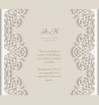 vintage frame with cutout lace borders vector image vector image