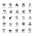 web and graphic designing glyph icons set 1 vector image vector image