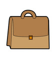 cute brown suitcase cartoon vector image