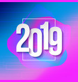 2019 numbers papers on colorful background vector image vector image