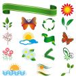 a collection of natural elements vector image