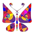 abstract colored butterfly vector image vector image