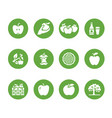 apples flat glyph icons apple picking autumn vector image vector image