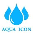 aqua icon vector image