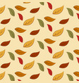 autumn leaves pattern background vector image