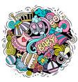 baby cartoon doodle funny children design vector image vector image