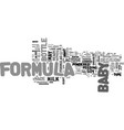baby formula types and benefits text word cloud vector image vector image