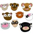 bear face expressions - cartoon set vector image