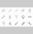beauty accessories hand drawn sketch icon set vector image vector image