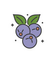 berry icon on white background for graphic and web vector image
