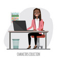 black african american businesswoman is using a vector image vector image