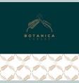 botanics logo vector image vector image