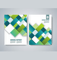 brochure title sheet polygonal construction vector image vector image