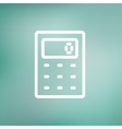 Calculator thin line icon vector image