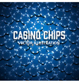casino chips top view with shadows vector image vector image