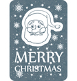 christmas card with santa grey vector image vector image