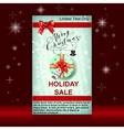 Christmas sale web banners vector image vector image