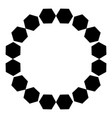 circular pattern of black hexagons on a white vector image vector image