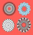 collection of abstract ornamental elements vector image vector image