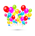 Colorful Balloons Isolated on White Background vector image vector image