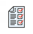 Completed Tasks Icon vector image vector image
