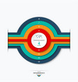 concentric circles diagram for infographics vector image