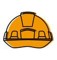 construction helmet security cute kawaii cartoon vector image