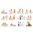 couple everyday routine daily leisure and work vector image vector image