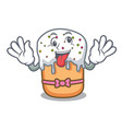 crazy easter cake mascot cartoon vector image vector image