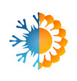 design sun and snowflake vector image vector image