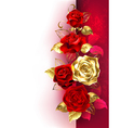 Design with Red Roses vector image vector image