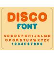Disco font Retro alphabet Vintage rounded alphabet
