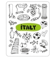 Doodle about Italy vector image vector image