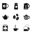 Drink icons set simple style vector image vector image