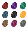 dyed patterns egg for easter easter single icon vector image vector image