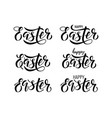 easter lettering written by brush pen vector image