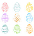 egg icons for easter holidays design isolated on vector image vector image