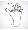 Element yoga Turtle mudra hands vector image