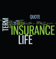 everybody wants the best term life insurance vector image vector image