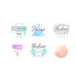 fashion luxury boutique logo design set vector image vector image