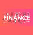 finance word abstract thin line vector image vector image