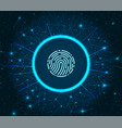 fingerprint scanning system of prints recognition vector image vector image