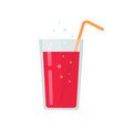 fresh glass fruit juice or smoothie vector image