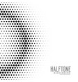 halftone gradient circles dot background vector image vector image