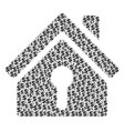 home keyhole collage of dollar and dots vector image vector image