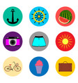 icon logo for set symbols on flat vector image vector image