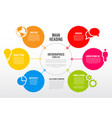 infographic schema template vector image vector image