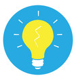 isolated yellow lightbulb vector image vector image