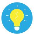 isolated yellow lightbulb vector image