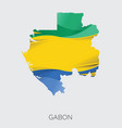 map of gabon vector image